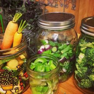 storing veg